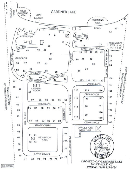 Laurel Lock Campground Map of Sites